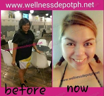watermarked-glutathione feedback before and after glutax