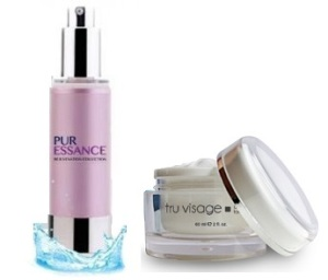 Puressance and Truvisage Anti Aging Serum and Cream Combo for Anti Aging Anti Wrinkles