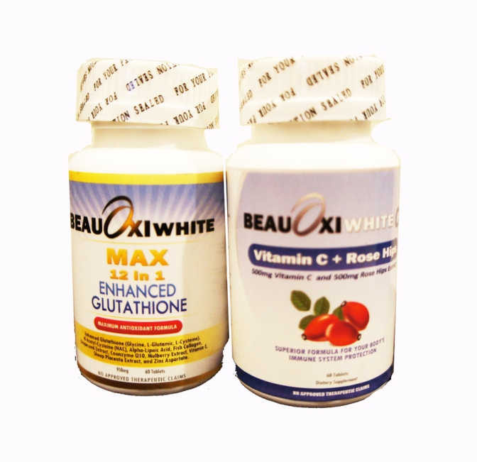 BeauOxiWhite Max 12in1 Enhanced Glutathione Tablets 950mg