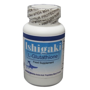 Ishigaki Advanced Ultrawhite Reduced Glutathione Supplement 60 capsules bottle