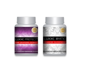 Luxxe White Master Anti-Oxidant Glutathione and Luxxe Protect Grapeseed Combo