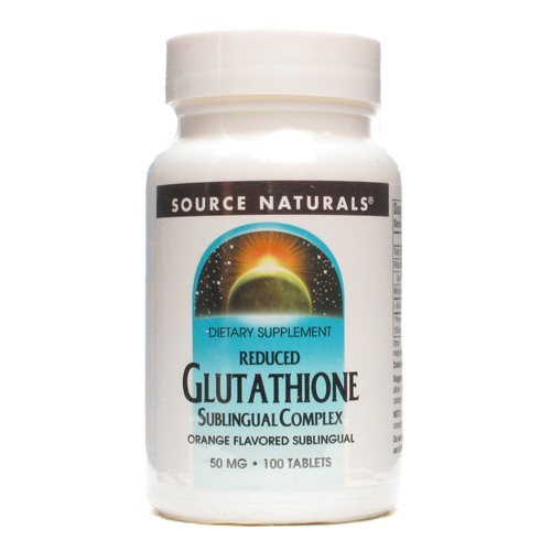 Source Naturals Sublingual Glutahione Orange Flavor 100 tablets