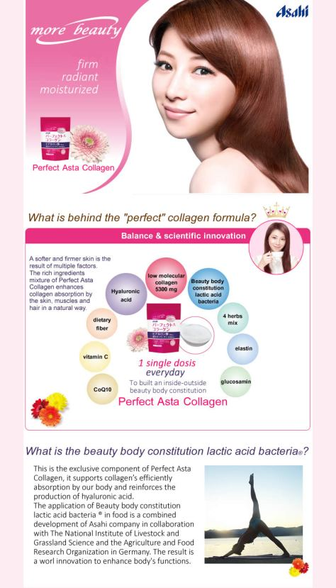 Asahi Perfect Asta Collagen Powder Drink for Anti Aging