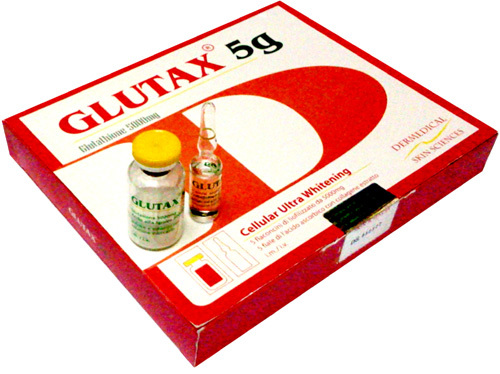 Glutax 5g Glutathione IV Complete Set 5000mg x 5