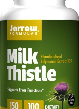 Jarrow Milk Thistle Liver Function Support for Liver Regeneration 100 capsules