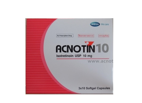 Acnotin Isotretinoin (for Severe Acne) 10mg like Accutane (must be doctor prescribed)