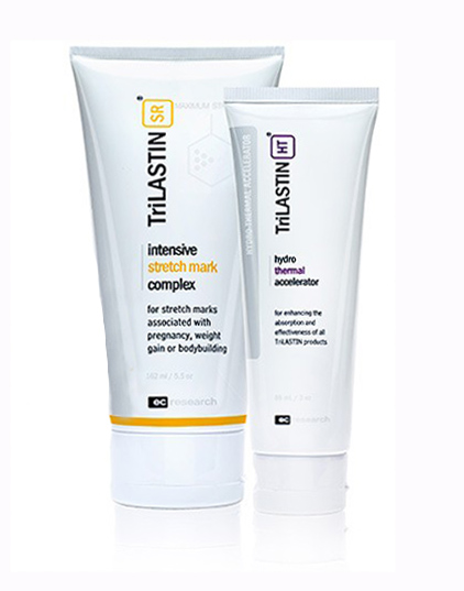 Get Rid of Stretchmarks: Trilastin Stretchmark Cream with Hydrothermal Accelerator 177 ml + 90 ml