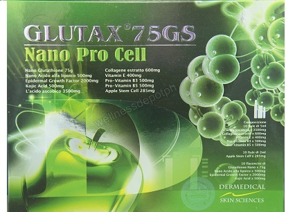 Glutax 75gs Nano ProCell ​​​Glutathione Injection with Apple Stem Cell Complete IV Set