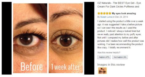 Oz Natural Eye Gel Review