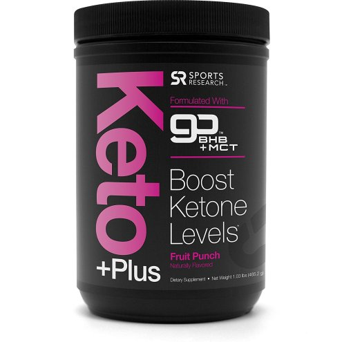 Sports Research Keto Plus Fruit Punch MCT Oil and Exogenous Ketones BHB 1lb
