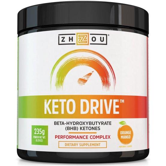 ZHZOU Keto Drive BHB Ketones Performance Complex Orange Mango 235g.jpg